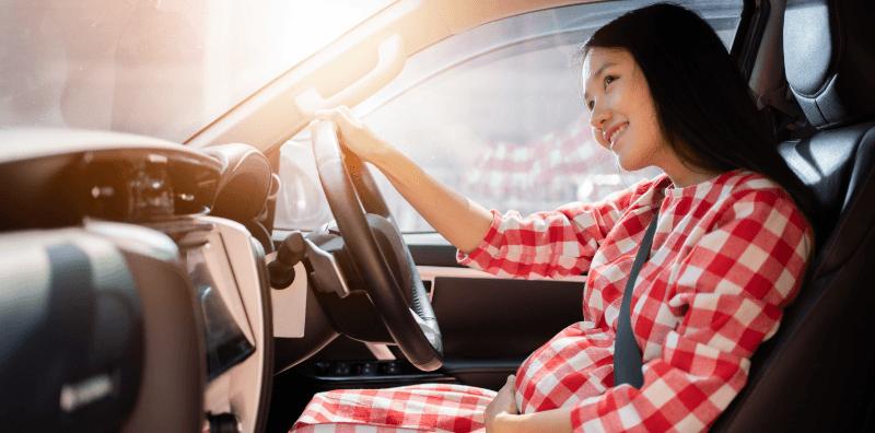 การนั่งขับขี่ที่เหมาะสมสำหรับคุณแม่ตั้งครรภ์